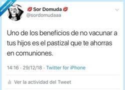 Enlace a La única ventaja de ser antivacunas, por @sordomudaaa