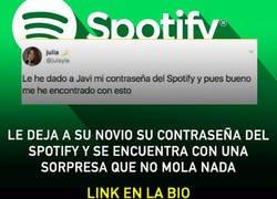 Enlace a Las cuentas de Spotify no se comparten. Con NADIE