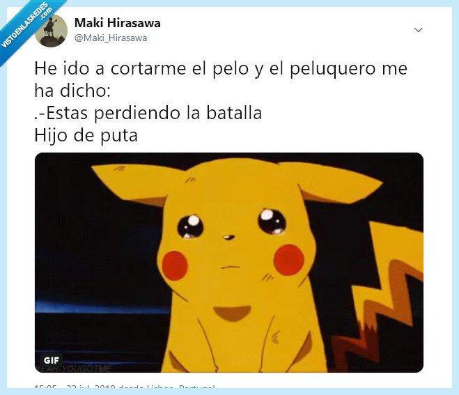 calvo,peluquero,pikachu