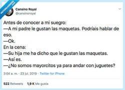 Enlace a Enemistarse con el suegro, por @cansinoroyal