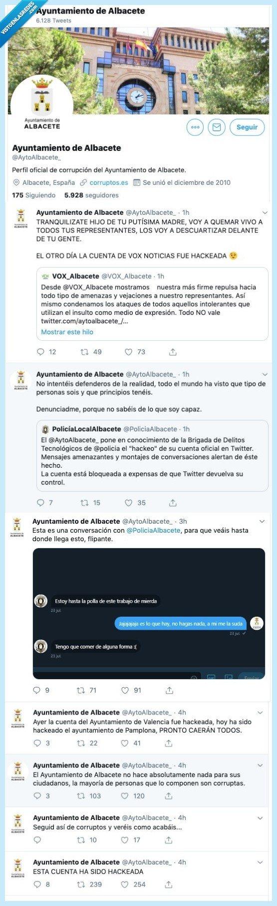Albacete,ayuntamiento,corrupción,hackeo,hacker,Twitter