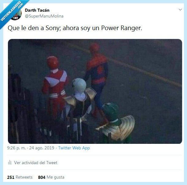 power rangers,sony,spiderman