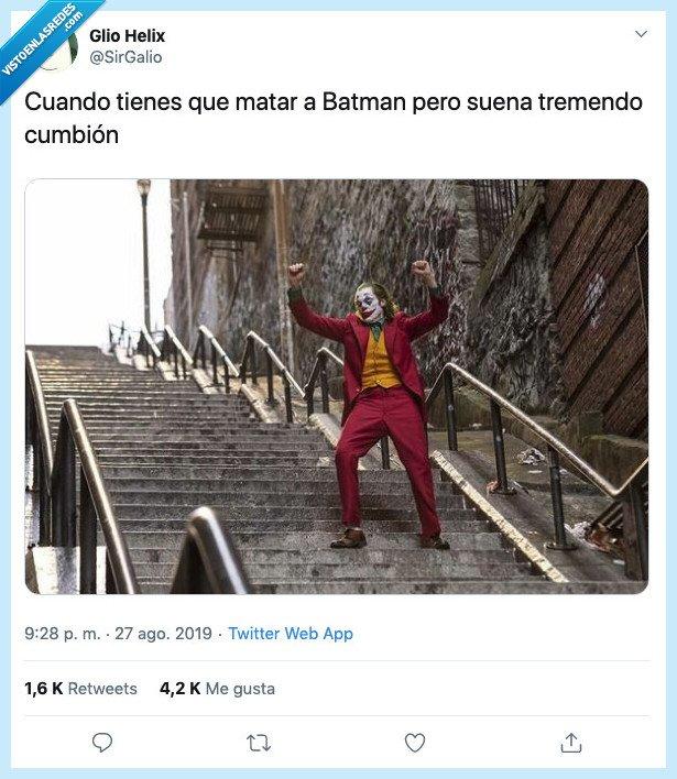 bailar,baile,batman,cumbion,joaquin Phoenix,joker,matar