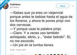 Enlace a Los viejennials, por @Tuitiritero