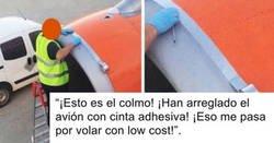 Enlace a Desmontando uno de los mitos más típicos: el avión es lowcost y lo arreglan con cinta aislante, por @J_Morillas