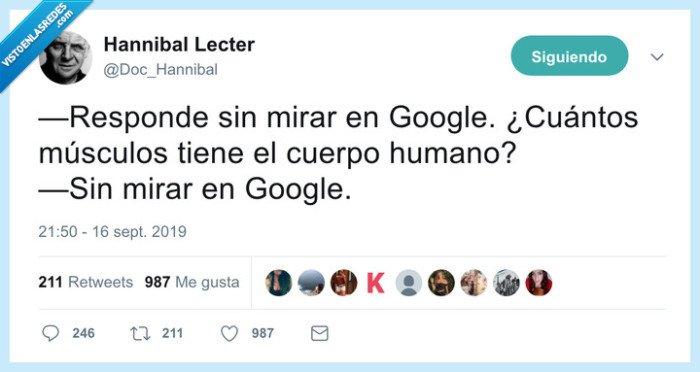 google,mirar,músculos,respuesta