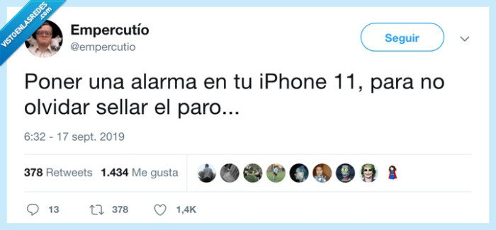 alarma,iphone 11,paro,sellar