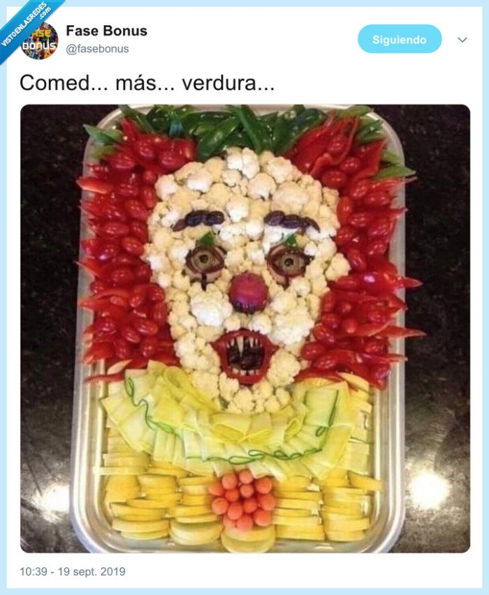 comer,it,payaso,verdura