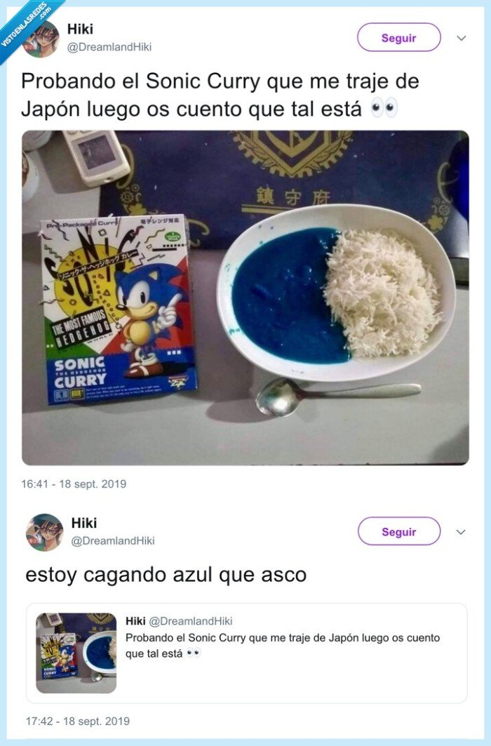 caca,curry azul,sonic