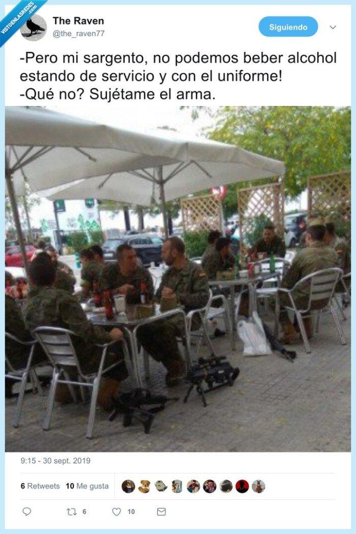 armas,beber,de servicio,policía