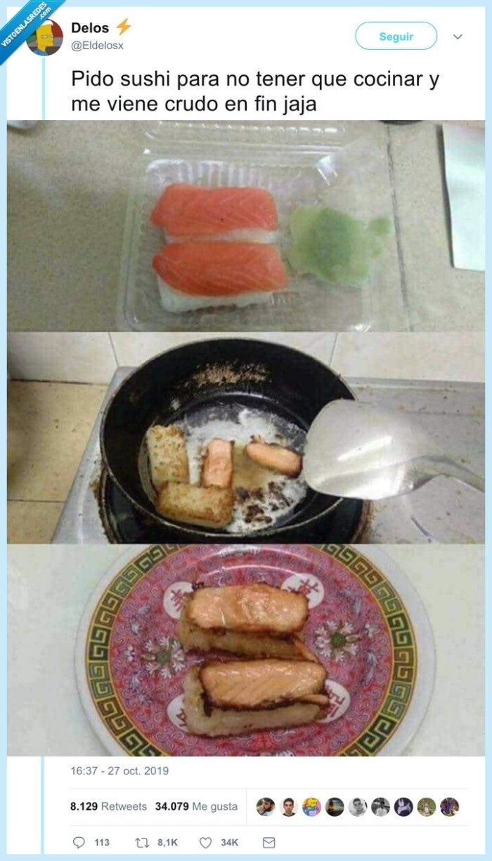 cocinar,crudo,sushi