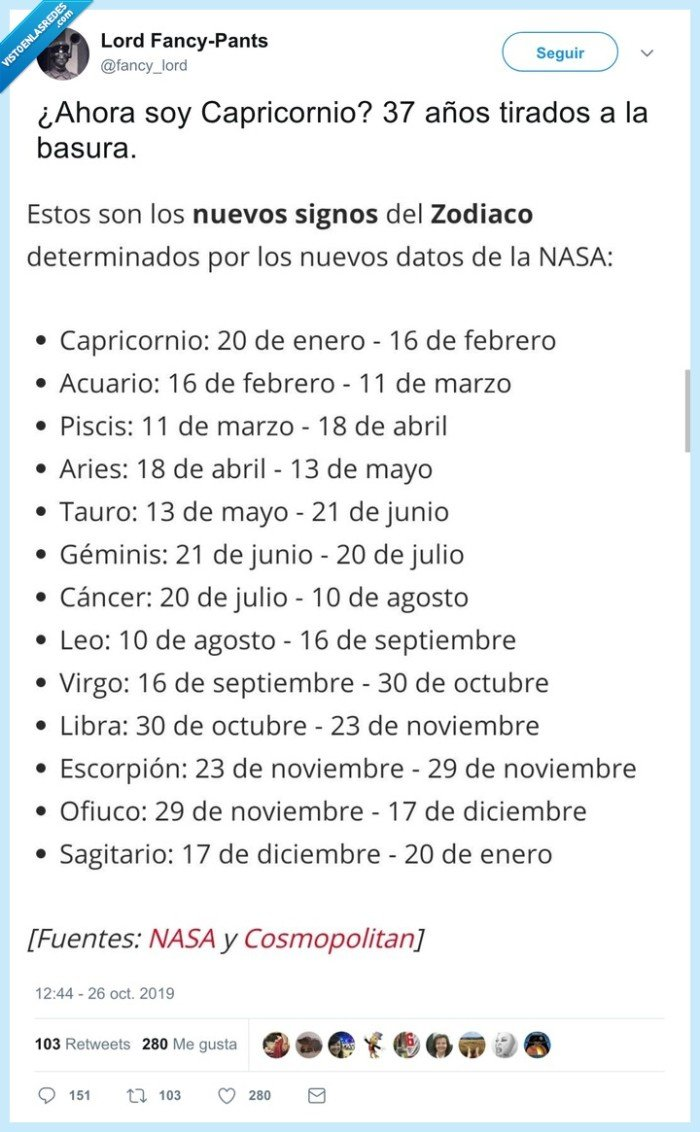 cambio,horóscopo,nasa