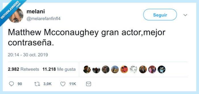 contraseña,Mcconaughey