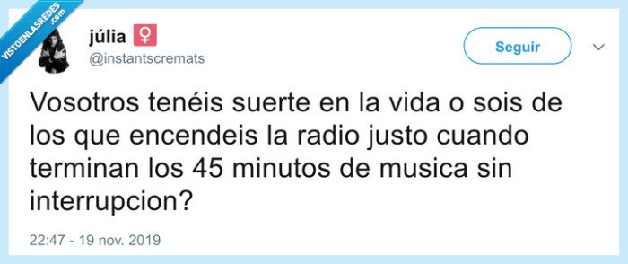 Mala suerte,musica,radio