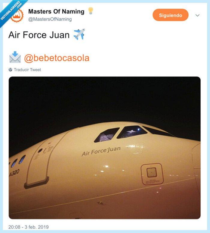 air force juan,air force one,avión,juan