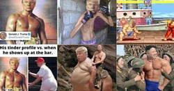 Enlace a Trump se viene arriba en un tweet con el cuerpo de Rocky y se convierte en carnaza para memes