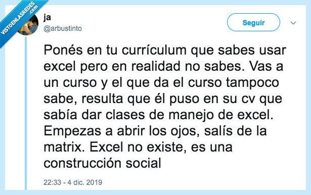 curriculum,cv,excel,mentir