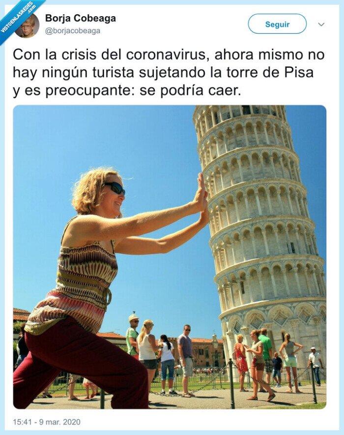 aguantar,coronavirus,torre de pisa