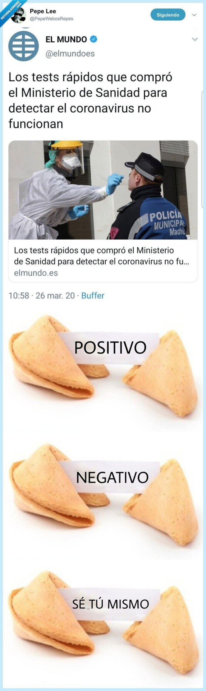 coronavirus,galletas de la suerte,gobiernos,tests