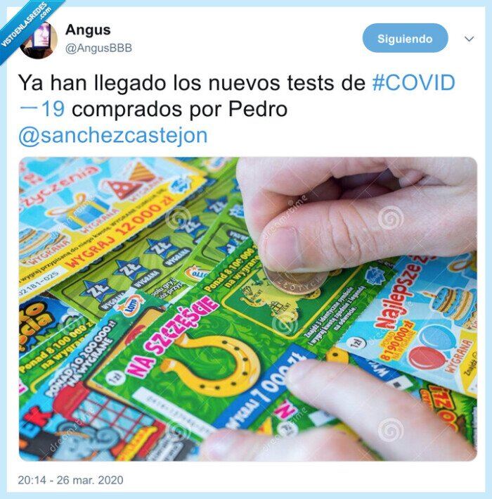 coronavirus,pedro sanchez,rasca y gana,tests