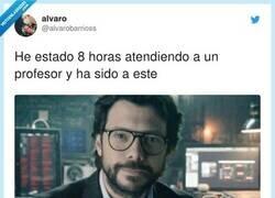 Enlace a El único profesor que cumple, por @alvarobarrioss