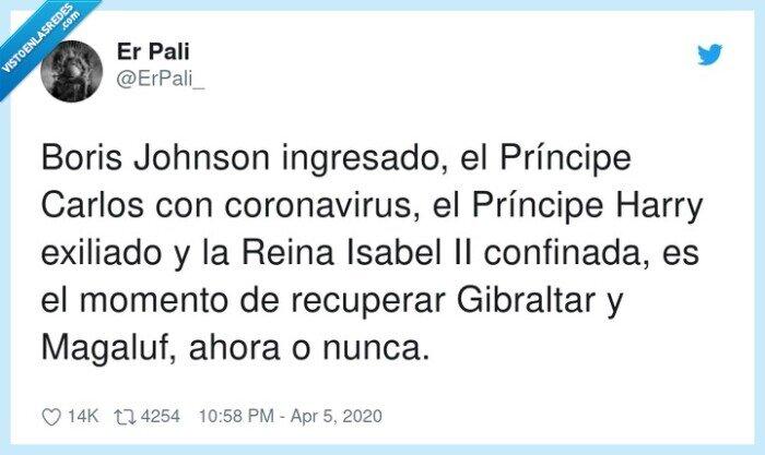 confinada,coronavirus,Gibraltar,ingresado,Príncipe,recuperar