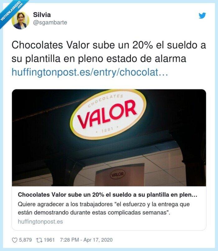 alarma,chocolates,estado,plantilla,sueldo,valor