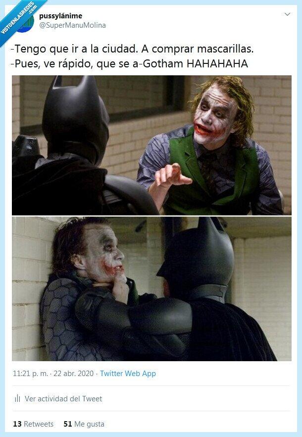 agotar,batman,gotham,joker,mascarillas