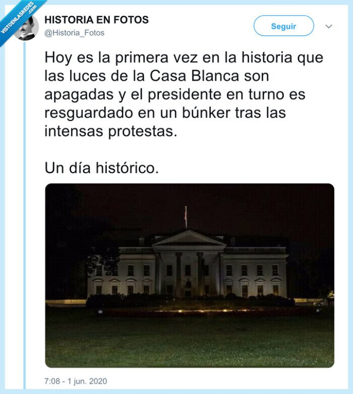 casa blanca,eeuu,histórico,intensas,luz apagada,presidente,protestas,usa