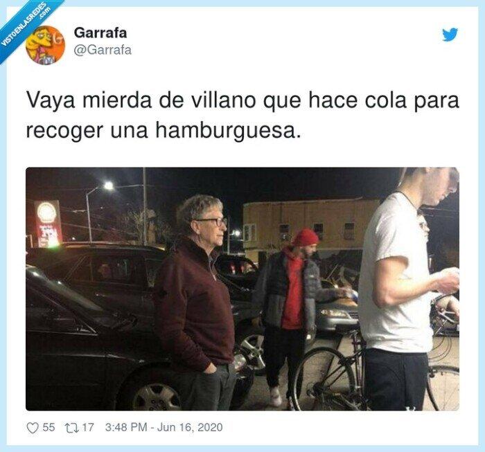 bill gates,hamburguesa,recoger,villano