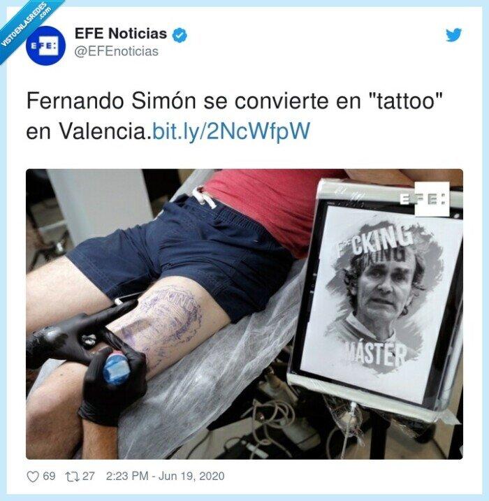 coronavirus,fernando simón,tattoo,tatuaje