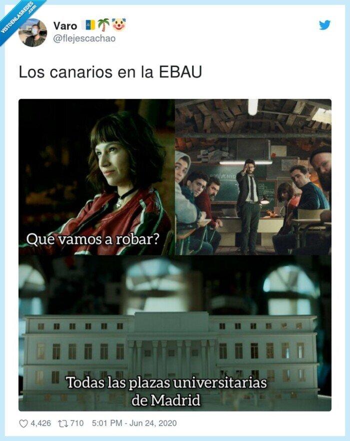 canarios,ebau,madrid,plazas,universidad