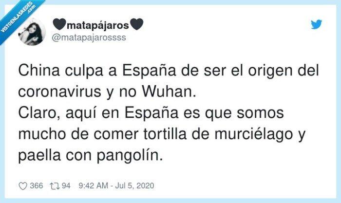 coronavirus,españa,murciélago,origen,pangolín,tortilla