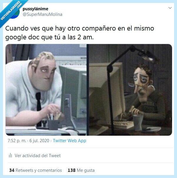 compañero,google doc,madrugada