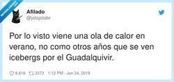 Enlace a Poca broma con los icebergs del Guadalquivir, no teneis ni idea de lo que cagan los pingüinos y como dejan luego el río, por @jotajotabr