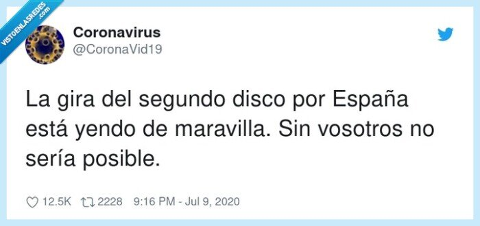 coronavirus,disco,gira,rebrote