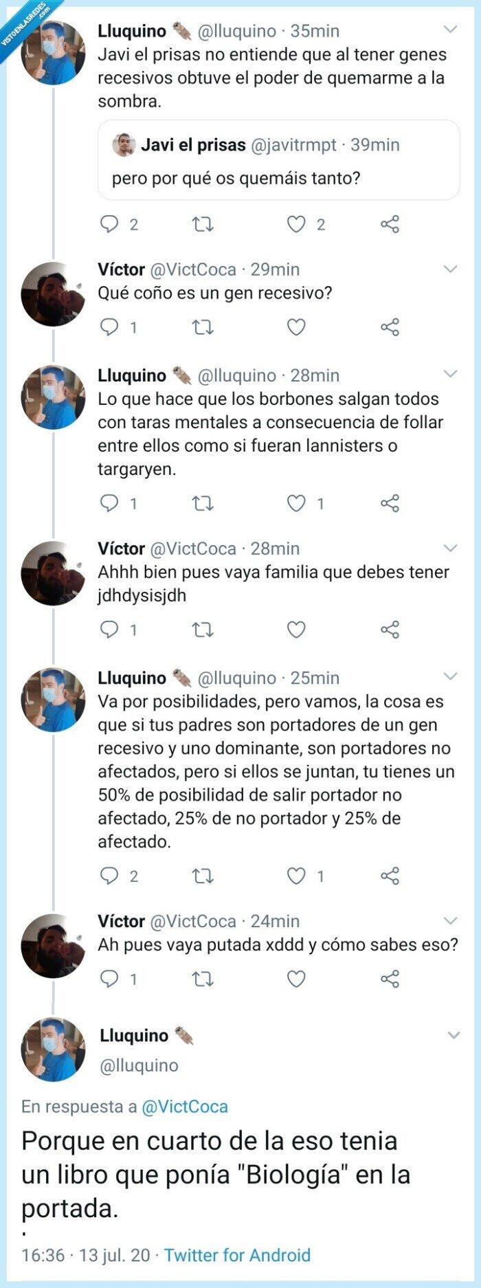 biología,genes,recesivo,Twitter
