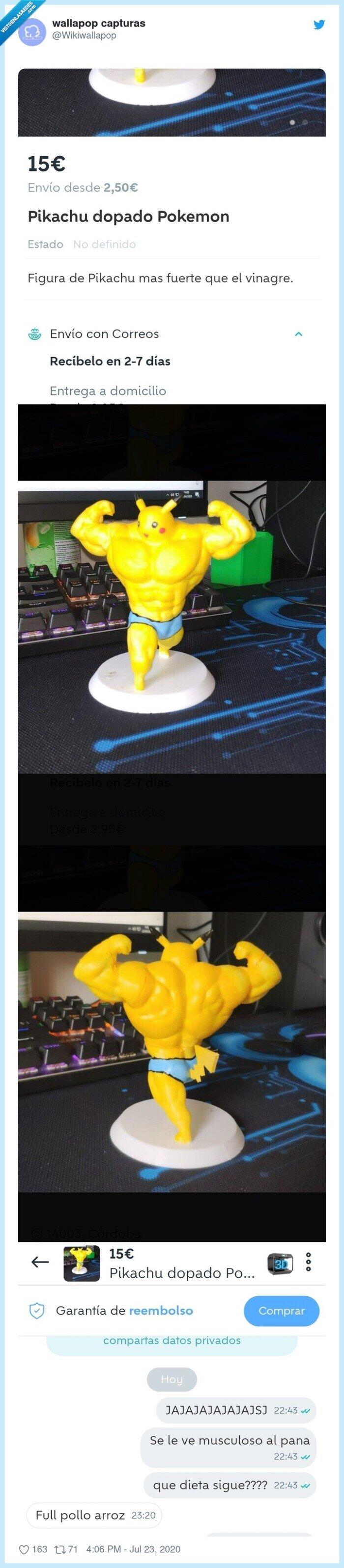 figura,mamadismimo,musculado,pikachu,wallapop