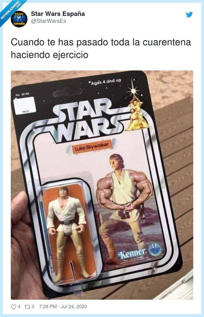 cuarentena,ejercicio,gym,Luke,starwars