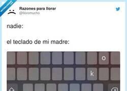 Enlace a Yo diría que en su teclado todavía están más separadas estas dos letras, por @lloromucho