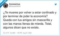 Enlace a A Miguel Bosé le gusta este mensaje  , por @CoronaVid19