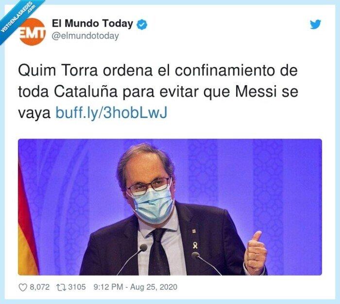 cataluña,confinamiento,messi,mundotoday,torra