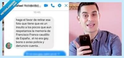 672091 - El trolleo absoluto a un franquista: de los insultos a estar a punto de compartir una cama de matrimonio, por @DavidSuarez_V