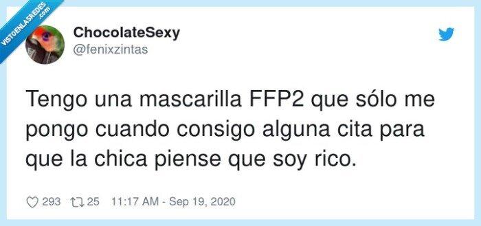chica,cita,ffp2,mascarilla