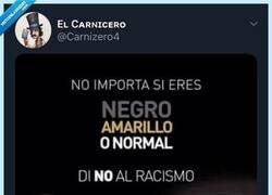 Enlace a Como campaña contra el racismo ha quedado un poco regulín