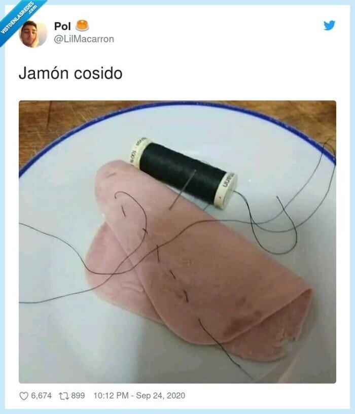 cosido,jamón