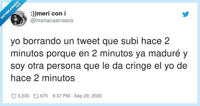 borrando,madurar,minutos,tweets