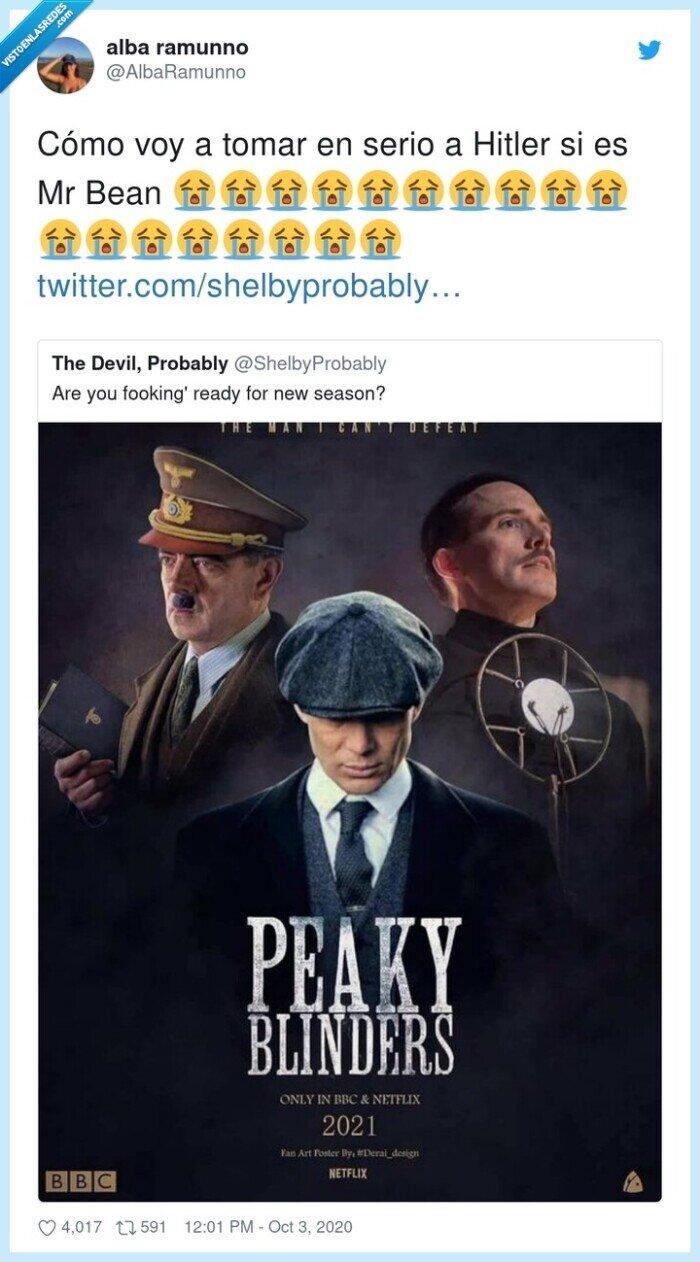blinders,Hitler,mrbean,Peaky