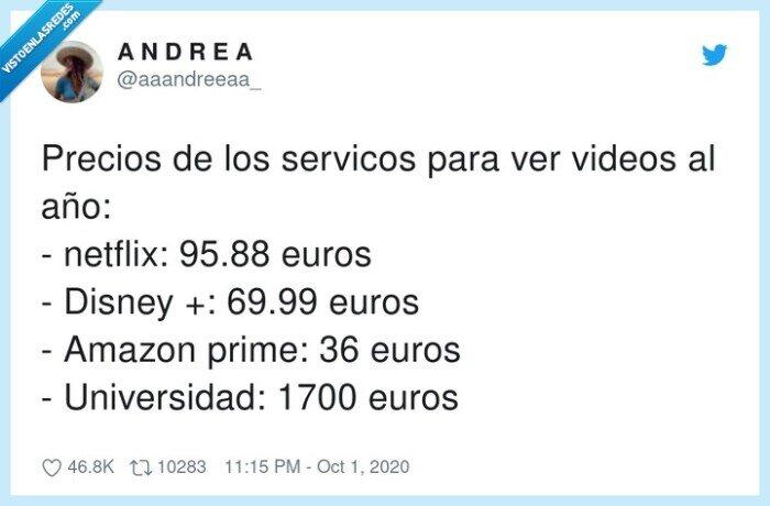 disney,netflix,precios,servicos,universidad,videos
