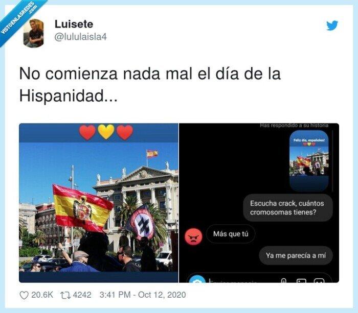 bandera,cromosomas,hispanidad,historias
